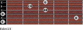 Edim13 for guitar on frets 0, 5, 0, 3, 2, 3