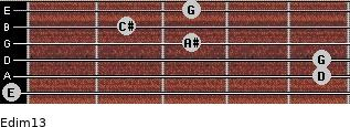 Edim13 for guitar on frets 0, 5, 5, 3, 2, 3