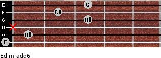 Edim(add6) for guitar on frets 0, 1, x, 3, 2, 3