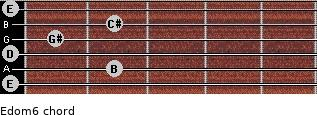 Edom6 for guitar on frets 0, 2, 0, 1, 2, 0