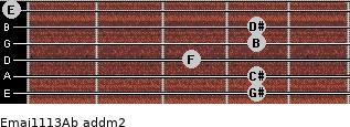 Emaj11/13/Ab add(m2) guitar chord