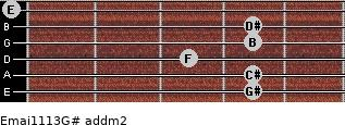 Emaj11/13/G# add(m2) guitar chord
