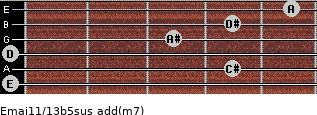 Emaj11/13b5sus add(m7) guitar chord