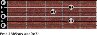 Emaj13b5sus add(m7) guitar chord