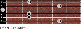 Emaj9/13/Ab add(m3) guitar chord