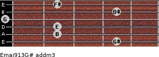 Emaj9/13/G# add(m3) guitar chord