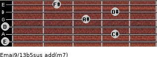 Emaj9/13b5sus add(m7) guitar chord