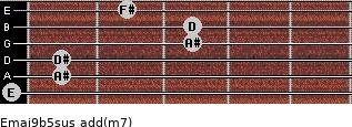 Emaj9b5sus add(m7) guitar chord