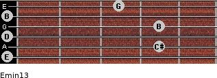 Emin13 for guitar on frets 0, 4, 0, 4, 0, 3