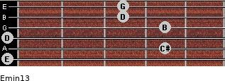 Emin13 for guitar on frets 0, 4, 0, 4, 3, 3