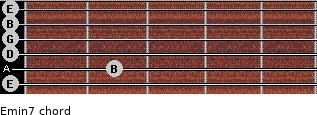 Emin7 for guitar on frets 0, 2, 0, 0, 0, 0