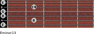 Eminor13 for guitar on frets 0, 2, 0, 0, 2, 0