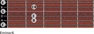 Eminor6 for guitar on frets 0, 2, 2, 0, 2, 0