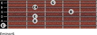 Eminor6 for guitar on frets 0, 2, 2, 4, 2, 3