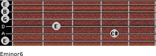 Eminor6 for guitar on frets 0, 4, 2, 0, 0, 0