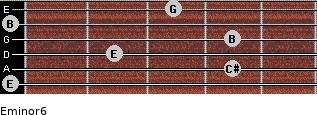 Eminor6 for guitar on frets 0, 4, 2, 4, 0, 3