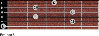 Eminor6 for guitar on frets 0, 4, 2, 4, 2, 3