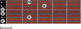 Eminor9 for guitar on frets 0, 2, 0, 0, 3, 2
