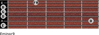 Eminor9 for guitar on frets 0, 5, 0, 0, 0, 2