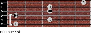 F11/13 for guitar on frets 1, 3, 1, 3, 3, 5