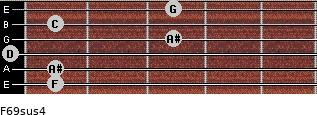 F6/9sus4 for guitar on frets 1, 1, 0, 3, 1, 3
