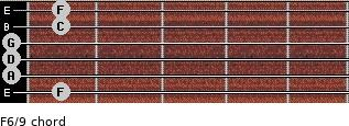 F6/9 for guitar on frets 1, 0, 0, 0, 1, 1