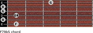 F7/9(b5) for guitar on frets 1, 0, 1, 0, 0, 3