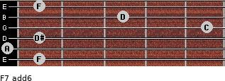 F7(add6) for guitar on frets 1, 0, 1, 5, 3, 1