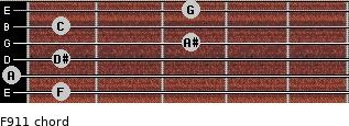 F9/11 for guitar on frets 1, 0, 1, 3, 1, 3