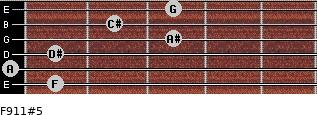 F9/11#5 for guitar on frets 1, 0, 1, 3, 2, 3