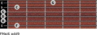 FMaj6(add9) for guitar on frets 1, 0, 0, 0, 1, 3