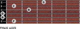 FMaj6(add9) for guitar on frets 1, 0, 0, 2, 1, 3