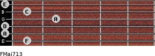 FMaj7/13 for guitar on frets 1, 0, 0, 2, 1, 0