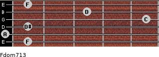 Fdom7/13 for guitar on frets 1, 0, 1, 5, 3, 1
