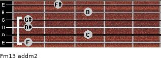 Fm13 add(m2) guitar chord