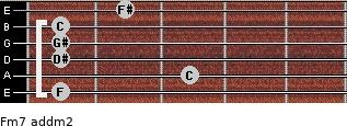 Fm7 add(m2) guitar chord