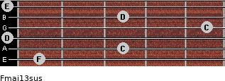 Fmaj13sus for guitar on frets 1, 3, 0, 5, 3, 0