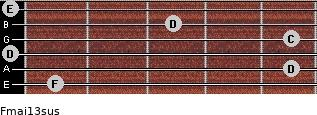 Fmaj13sus for guitar on frets 1, 5, 0, 5, 3, 0
