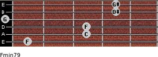 Fmin7/9 for guitar on frets 1, 3, 3, 0, 4, 4
