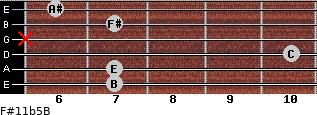 F#11b5/B for guitar on frets 7, 7, 10, x, 7, 6