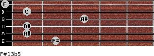 F#13b5 for guitar on frets 2, 1, 1, 3, 1, 0