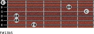 F#13b5 for guitar on frets 2, 1, 1, 5, 4, 0