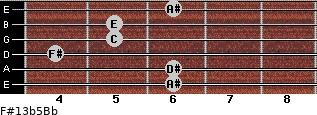 F#13b5/Bb for guitar on frets 6, 6, 4, 5, 5, 6