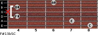 F#13b5/C for guitar on frets 8, 7, 4, x, 4, 6