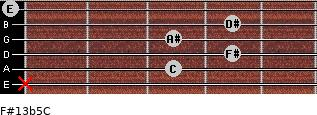 F#13b5/C for guitar on frets x, 3, 4, 3, 4, 0