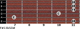 F#13b5/D# for guitar on frets 11, 7, 10, 11, 11, 11