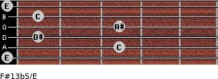 F#13b5/E for guitar on frets 0, 3, 1, 3, 1, 0