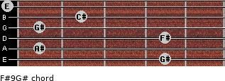 F#9/G# for guitar on frets 4, 1, 4, 1, 2, 0
