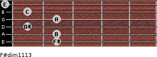 F#dim11/13 for guitar on frets 2, 2, 1, 2, 1, 0