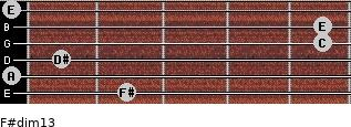 F#dim13 for guitar on frets 2, 0, 1, 5, 5, 0